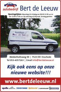 Bert de Leeuw gaat Enschede rond op 25 september